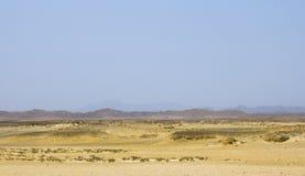 In Ägypten an der Sonnenuntergang Sandwüste Lizenzfreie Stockfotografie