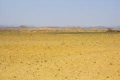 In Ägypten an der Sonnenuntergang Sandwüste Lizenzfreies Stockfoto