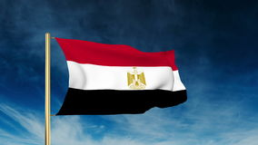 Ägypten-Flaggenschieberart Wellenartig bewegen in den Gewinn mit stock video footage