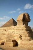 Ägypten, Giseh, Pyramiden stockbild