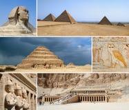 Ägypten-Grenzstein-Collage lizenzfreies stockfoto