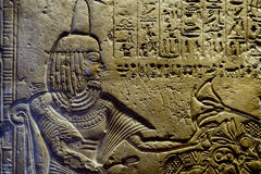 Ägypten-Hieroglyphen im Tal von Königen Lizenzfreie Stockfotografie