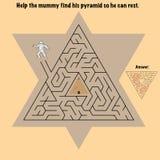 Ägypten-Labyrinth für Kinder Lizenzfreie Stockfotografie