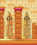Ägypten Luxor und Statue von Ramses Stockfotografie