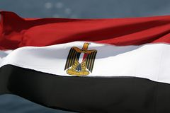 Ägypten-Markierungsfahne stockbilder