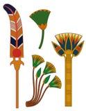 Ägypten ornament& Lotosblumen Stockbild