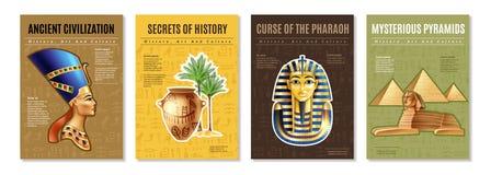 Ägypten-Poster eingestellt lizenzfreie abbildung
