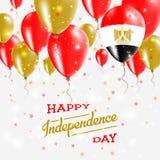 Ägypten-Vektor-patriotisches Plakat Unabhängigkeit Day Lizenzfreie Stockfotografie