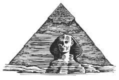 Ägypten-Vektorlogo-Designschablone ägyptisch Lizenzfreies Stockfoto