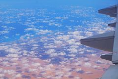 Ägypten vom Flugzeug stockbilder