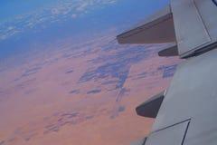 Ägypten vom Flugzeug stockbild