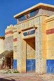 Ägyptische Dekorationen in Studios Atlas Corporation in Ouarzazate, Marokko stockbilder