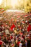 Ägyptische Demonstration gegen moslemische Bruderschaft lizenzfreies stockbild