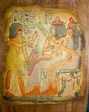 Ägyptische Familien-Kunst Stockbilder