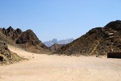 Ägyptische felsige Wüste Lizenzfreie Stockfotos
