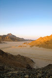 Ägyptische felsige Wüste Stockfotos