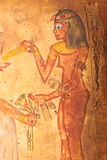 Ägyptische Frauenmalerei auf Papyrus vektor abbildung