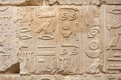 Ägyptische Hieroglyphe Stockfoto