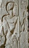 Ägyptische Hieroglyphe im Stein Lizenzfreies Stockbild