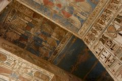 Ägyptische Hieroglyphen stockbilder