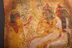 Ägyptische Könige, die auf Papyrus malen stock abbildung