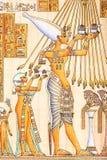 Ägyptische Kunst auf Papyrus lizenzfreie abbildung