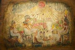 Ägyptische Kunst auf Papyrus Stockfotos