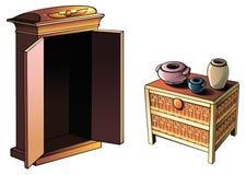 Ägyptische Möbel Stockfotos