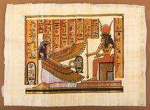 Ägyptische Malerei auf Papyrus lizenzfreie stockbilder