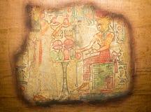 Ägyptische Malerei auf Papyrus vektor abbildung