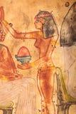 Ägyptische Malerei auf Papyrus lizenzfreies stockfoto