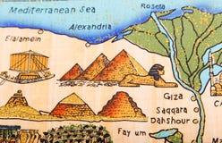 Ägyptische Papyrusmalerei vektor abbildung