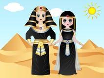 Ägyptische Pharao-Kostüme lizenzfreie stockfotografie