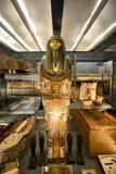 Ägyptische Pharao-Mama-Anzeige im Museum Lizenzfreie Stockbilder