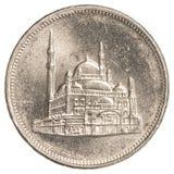 10-ägyptische Piaster-Münze Stockfotografie