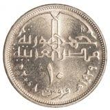 10-ägyptische Piaster-Münze Stockbilder