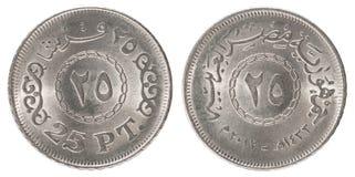 Ägyptische piastres Münze Stockbilder