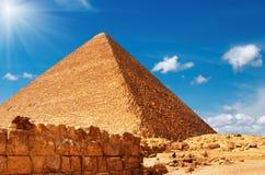 Ägyptische Pyramide Lizenzfreie Stockfotos