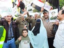 Ägyptische Revolution am 25. Januar Stockfotos