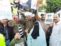 Ägyptische Revolution am 25. Januar Stockfotografie