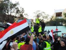 Ägyptische Revolution am 25. Januar Stockbilder