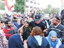 Ägyptische Revolution am 25. Januar Lizenzfreies Stockfoto