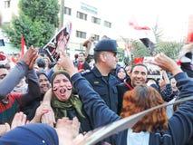 Ägyptische Revolution am 25. Januar Stockbild