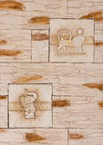 Ägyptische Sandsteinkunst Stockfoto