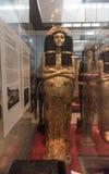 Ägyptische Sarkophagsfrau, British Museum Stockfotografie