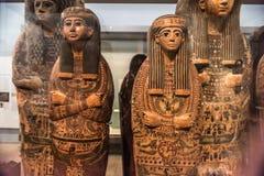 Ägyptische Sarkophagsfrau, British Museum Lizenzfreies Stockfoto