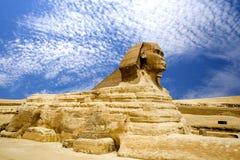 Ägyptische Sphinx und Pyramide Stockbilder