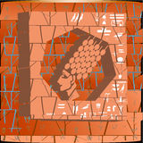 Ägyptische Symbole im Hintergrund der Maurerarbeit Stockfoto