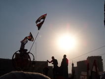 Ägyptische Umdrehung - Freiheit - 25. Januar Stockfotos