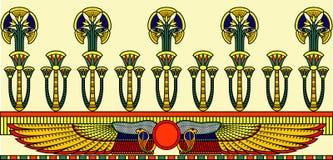 Ägyptische Verzierung Stockbild